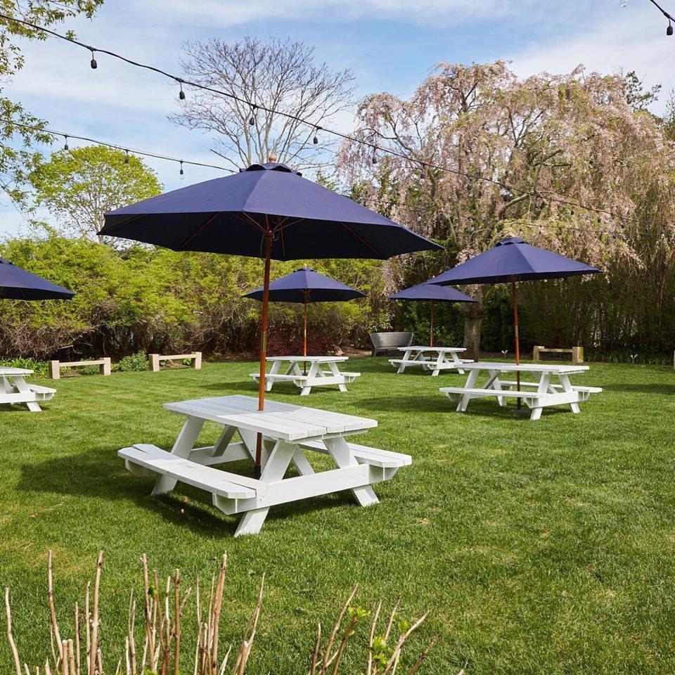 The outdoor set-up at Southampton Social Club.