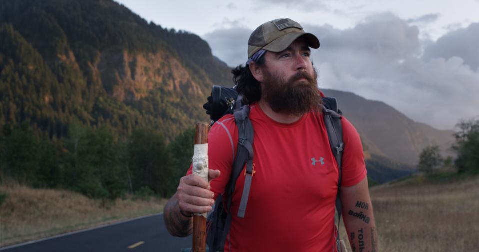 Jonathan Hancock, who walked across the U.S., in film Bastards Road