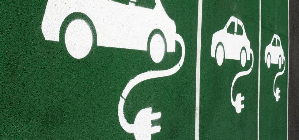Electric Vehicle Charging Bay Symbol