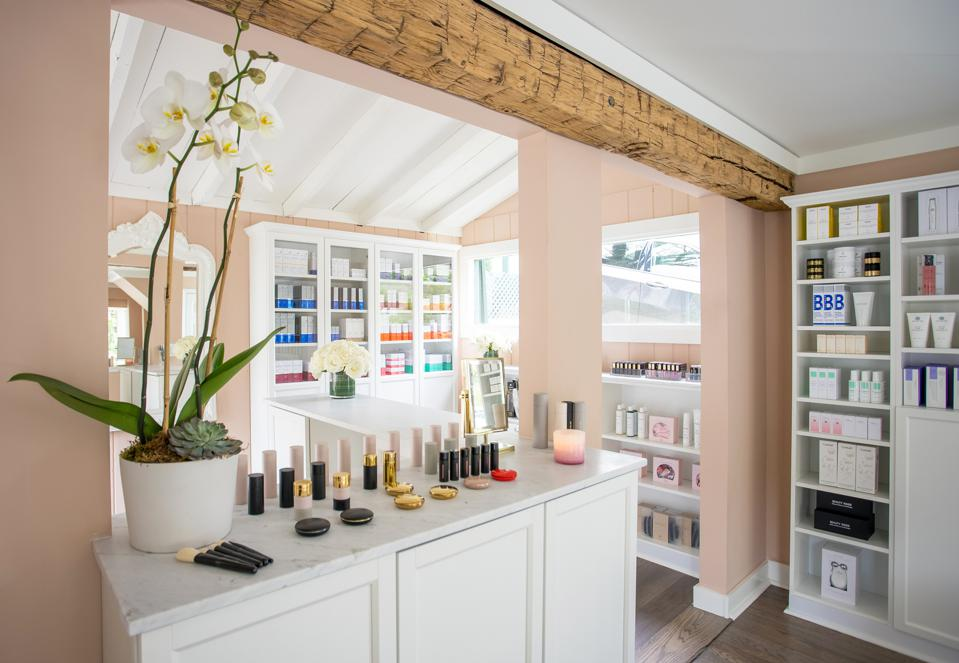 The interior of the third Knockout Beauty boutique in Locust valley, NY as one of the first franchise locations.