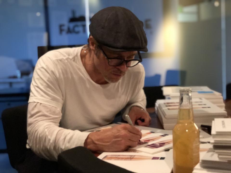 Actor Brad Pitt drawing