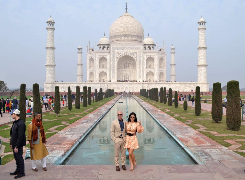 The superyacht Jeff Bezos is buying is similar in scale to the Taj Mahal in Agra, India> (Photo by Pawan Sharma / AFP) (Photo by PAWAN SHARMA/AFP via Getty Images)