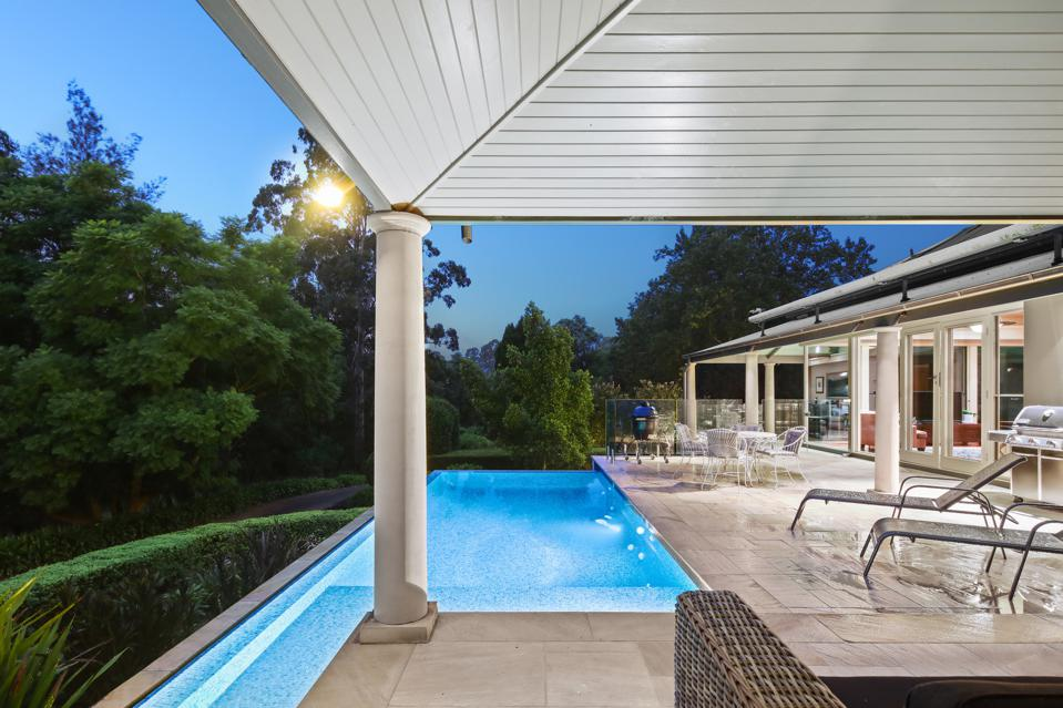 swimming pool at night 1235 West Portland Road Sydney, New South Wales, Australia