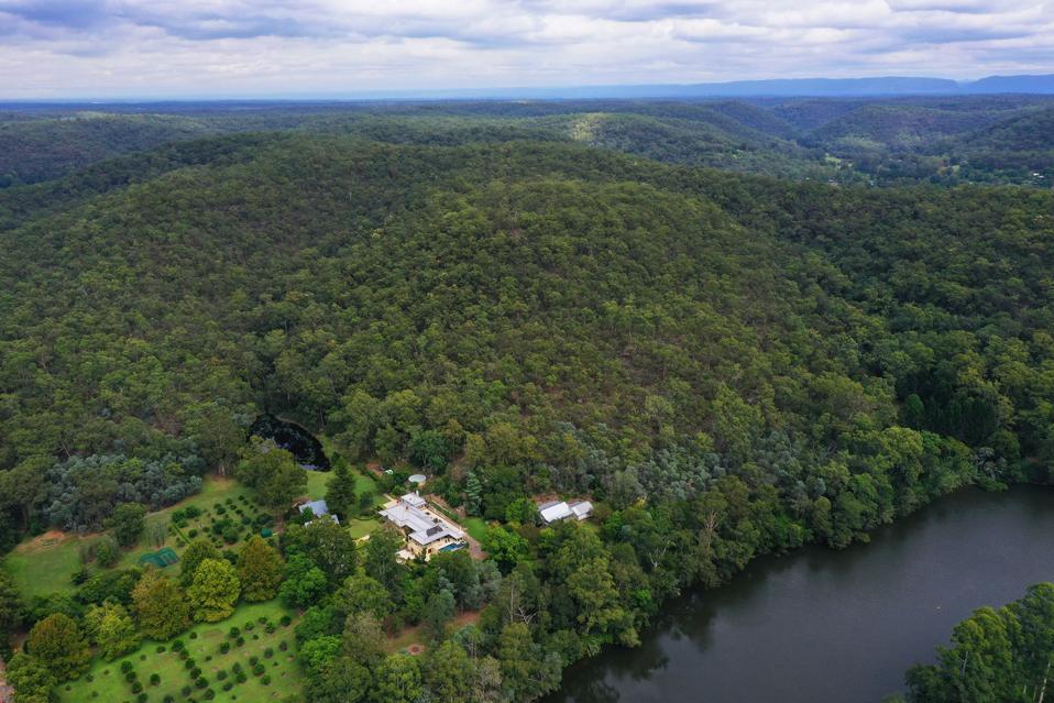 colo river venetiaville estate aerial view 1235 west portland new south wales sydney aus