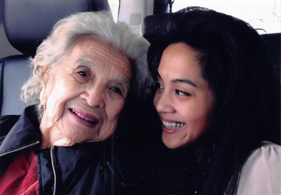 Cristina Patwa and her grandmother, Pamela