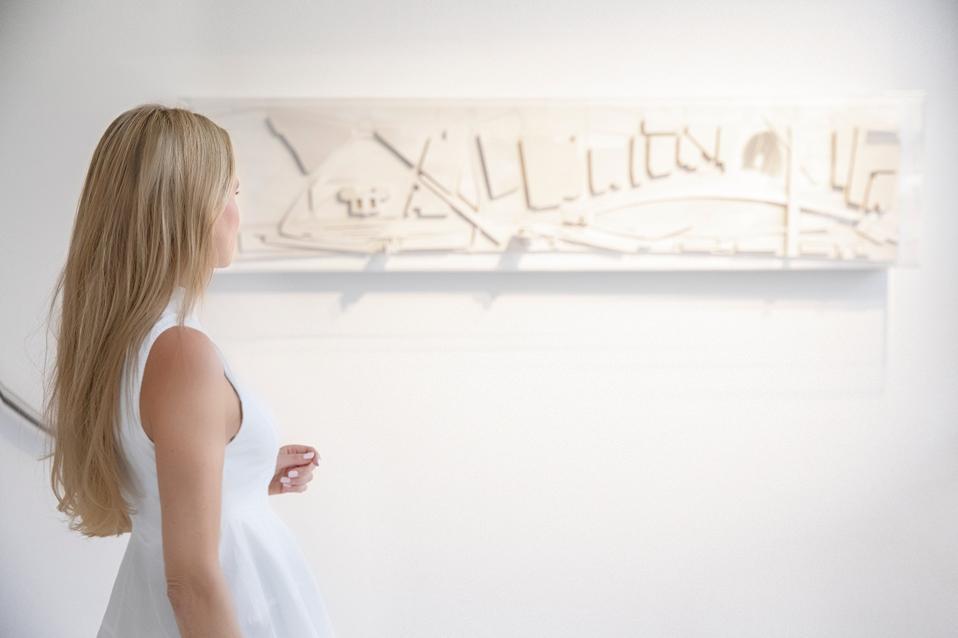 Nel-Olivia Waga at Galerie Gmurzynska's Zaha Hadid Exhibition: ″Abstracting The Landscape″ in Zurich