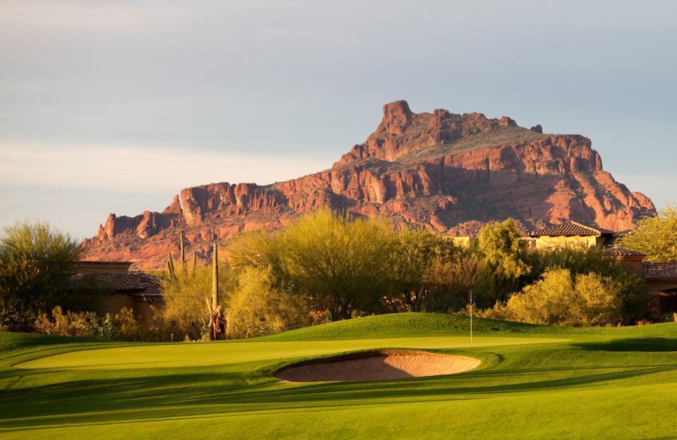 Wüstengolfplatz in Arizona