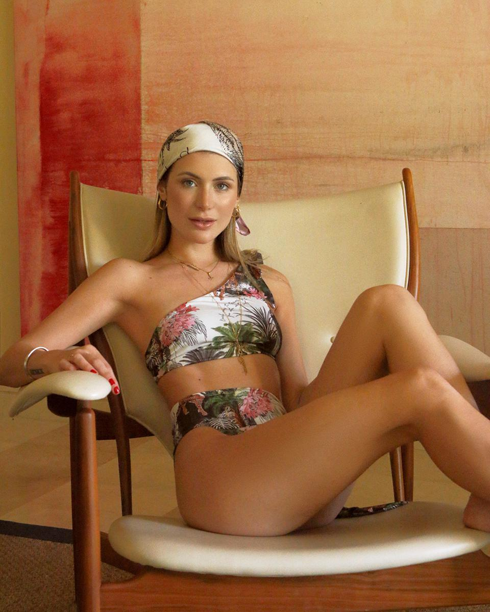 RSB SWIMWEAR Two Piece Suit with Canaima print