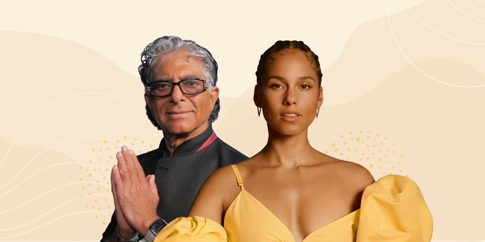 Deepak Chopra and Alicia Keys Partner on 21 day meditation.