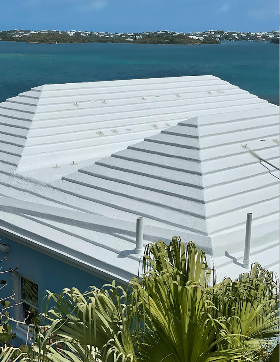 White stepped roofs of Bermuda
