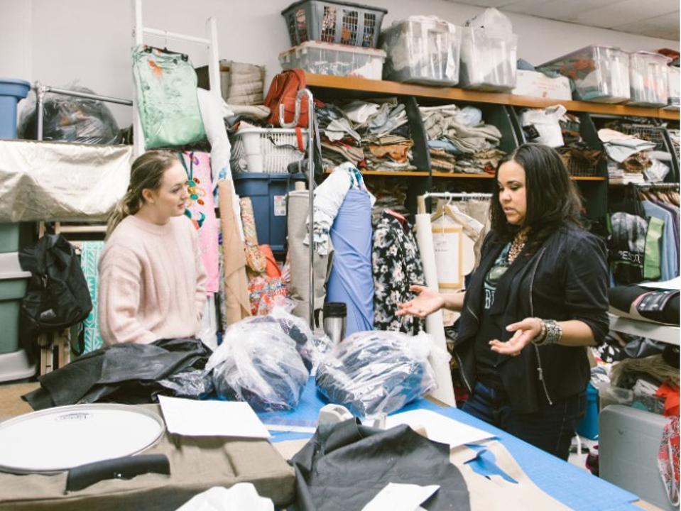 Encircled's Sr Production Manager Nina Boschman and the Owner Charmain Bertraim of Toronto Studios - Integrity Designs