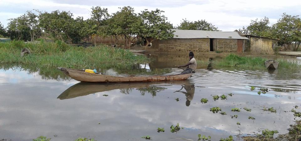 A fisherman in Zambia