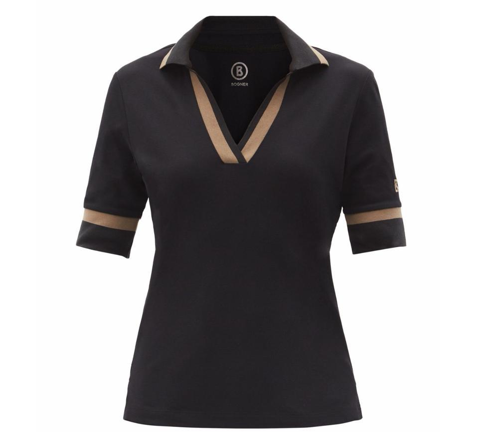 Fida Striped Cotton-Blend Piqué Golf Polo Shirt by Bogner