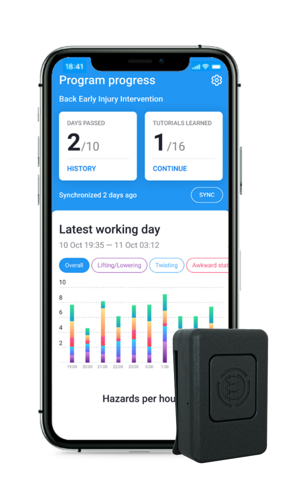The SoterCoach app puts data right at the user's fingertips.