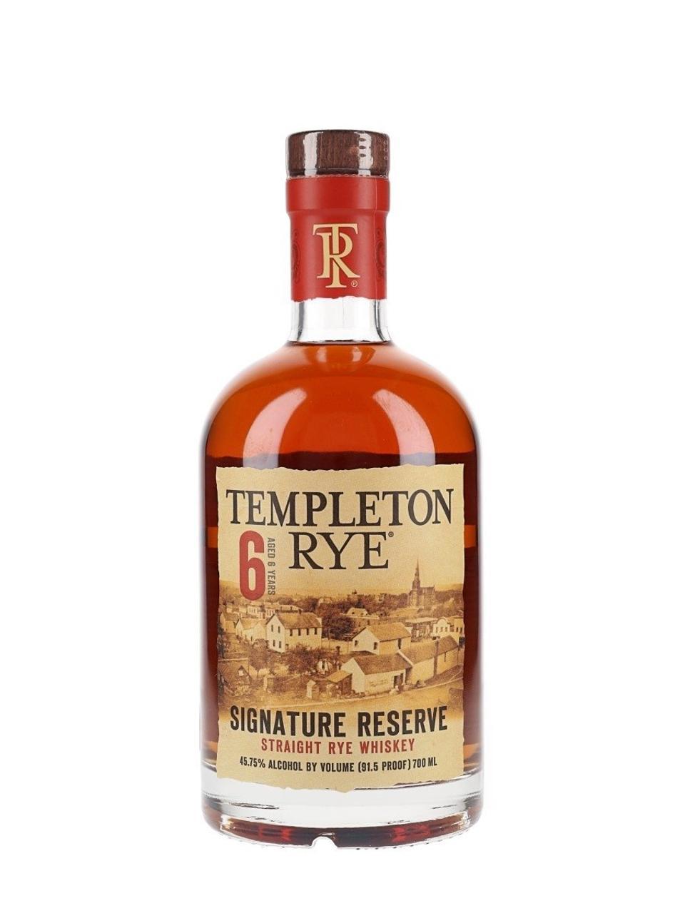 Templeton Rye, 6 YO, Signature Reserve Straight Rye Whiskey