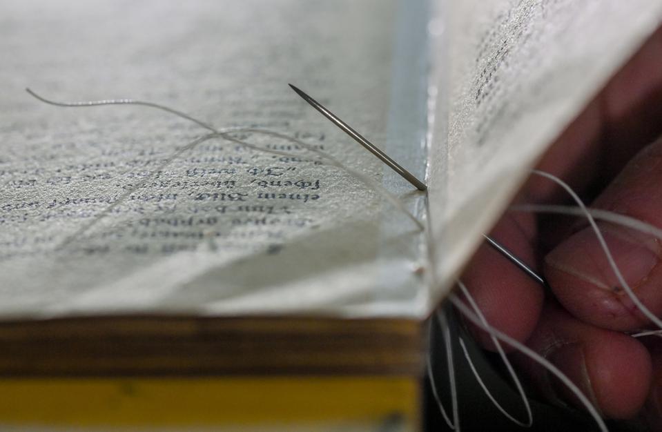 Book repair workshop