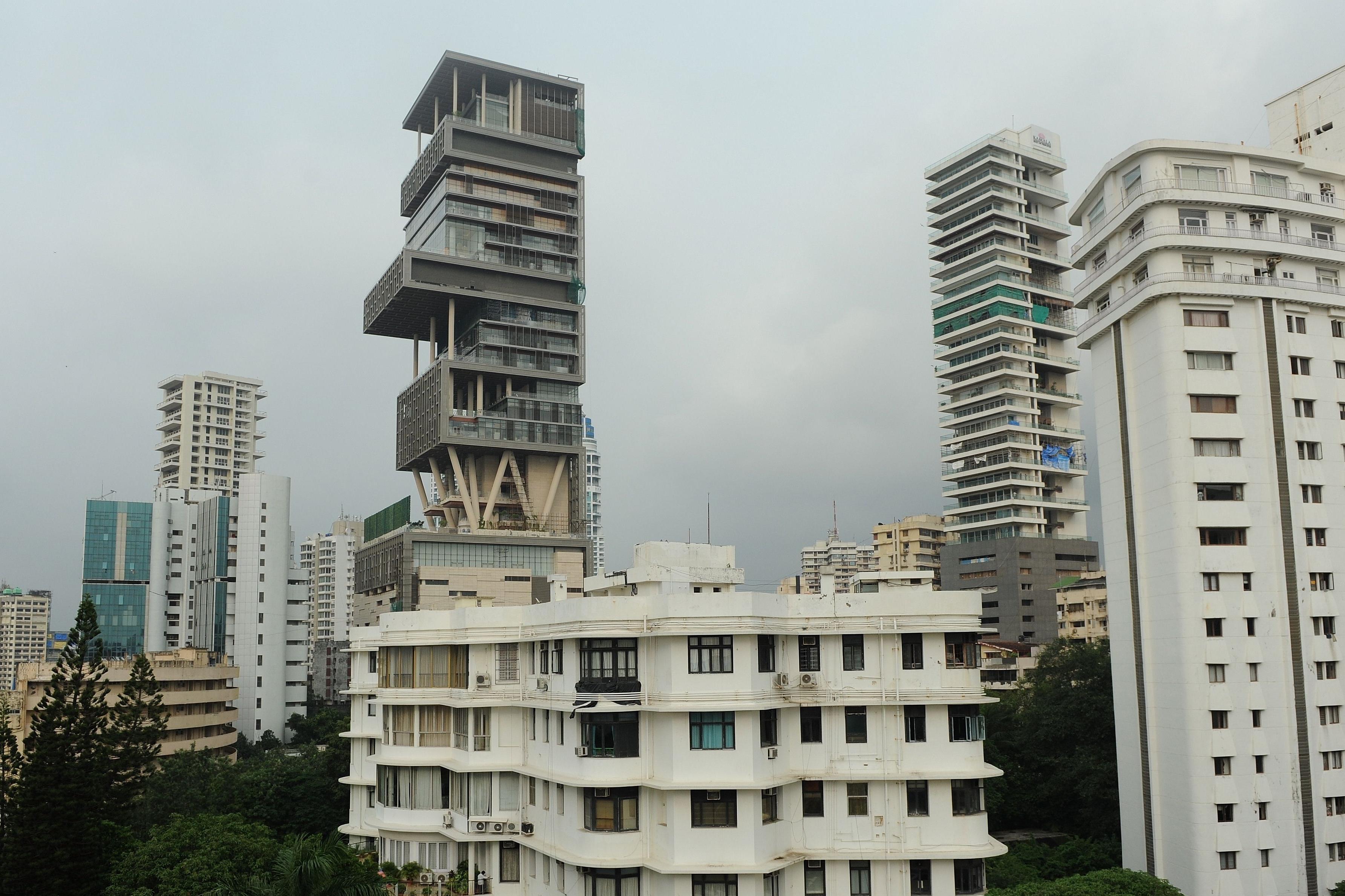 The twenty-seven storey Antilia, the new