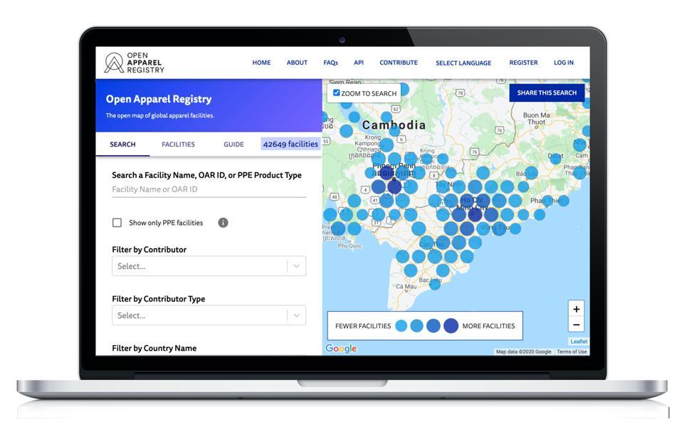 The Open Apparel Registry database