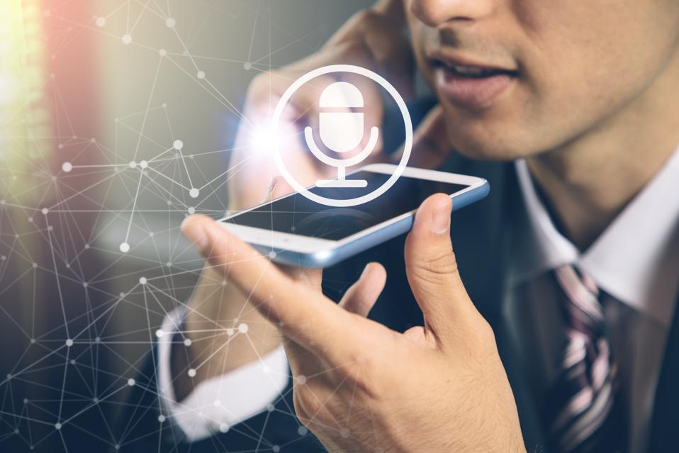 speech recognition concept. hands-free communication. machine translation.