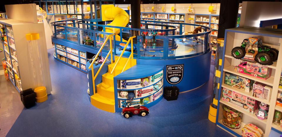 A climbing area for kids in a Camp store