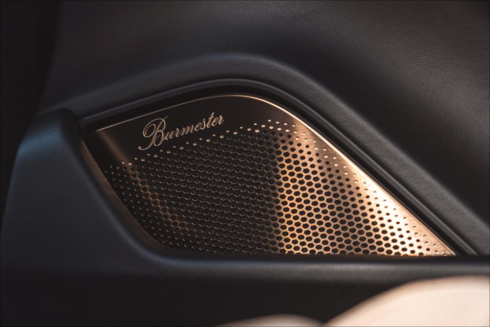 Burmeister optional audio system has 1455 watts and 21 speakers.