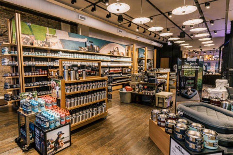 Interior store of YETI Chicago