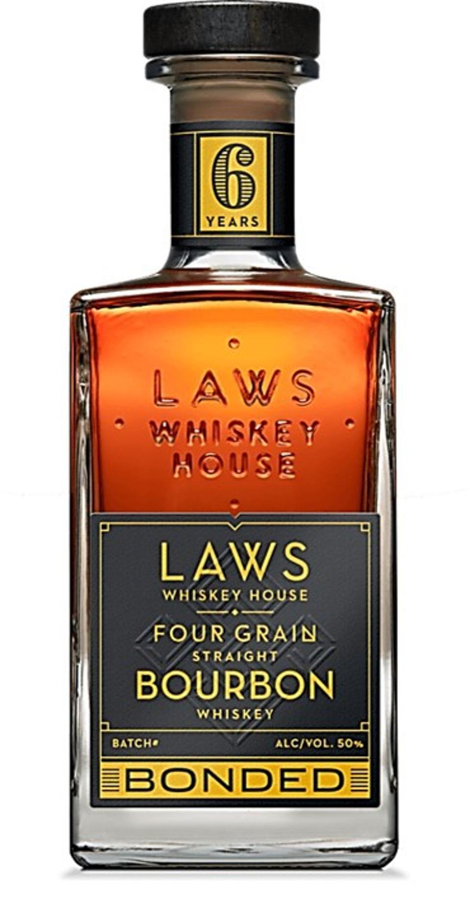 Laws Whiskey, Bonded Four Grain Straight Bourbon Whiskey