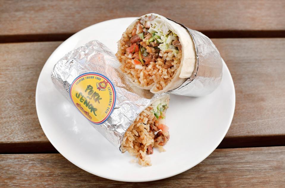 Señor Sisig pork burrito