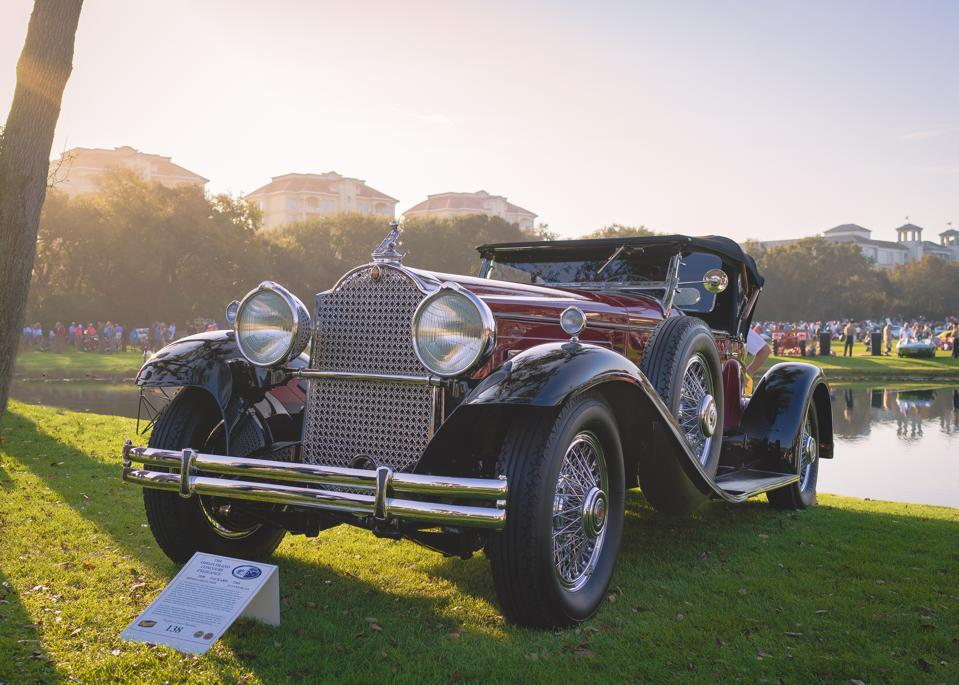 1930 Packard 734S at the Amelia Island Concours d'Elegance displayed during 2019's show.