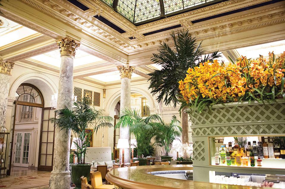 Palm Court room at The Plaza New York