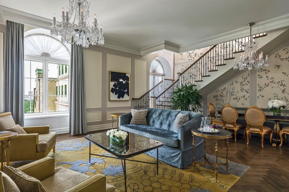 The Grand Penthouse Living Room at The Plaza Hotel