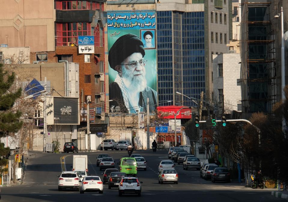 Iran's Supreme Leader Ayatollah Seyyed Ali Khamenei on Mural