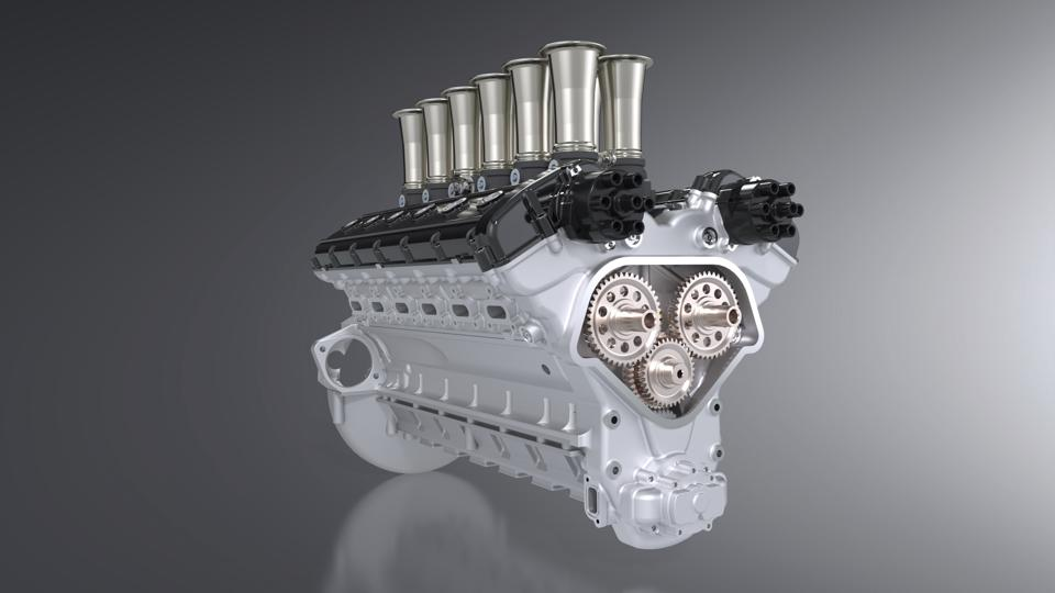 V12 engine of the Squalo by GTO Engineering