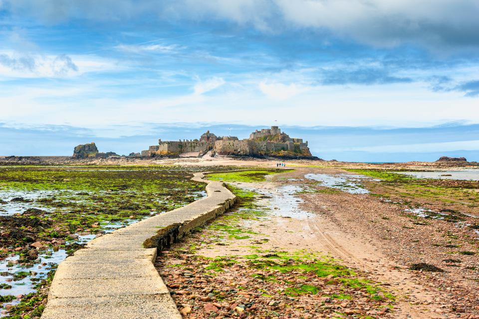 Footpath leading to Elizabeth Castle Jersey
