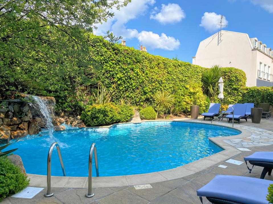Outdoor pool at The Club Hotel and Spa St Helier