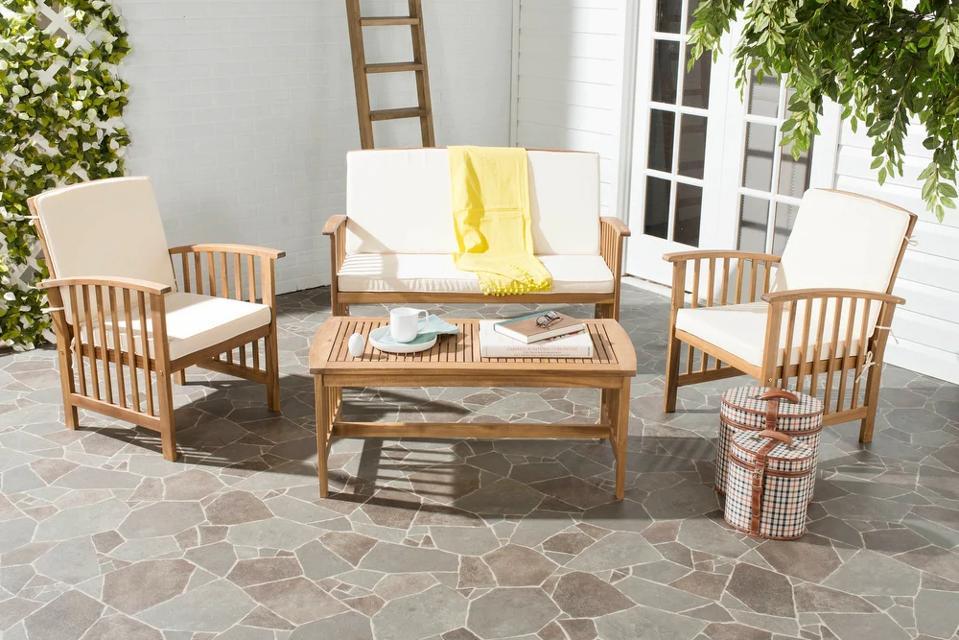 Best sales online: Safavieh Outdoor Living Rocklin 4-Piece Outdoor Set