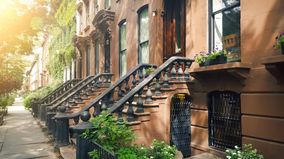 Elegant brownstones and townhouses in the Fort Greene area of Brooklyn, New York City