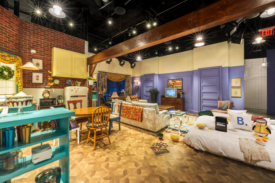 The Friends apartment stay features original props.