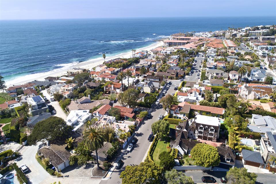 beach-barber tract aerial view of edgar ullrich house at 7231 Monte Vista Avenue San Diego