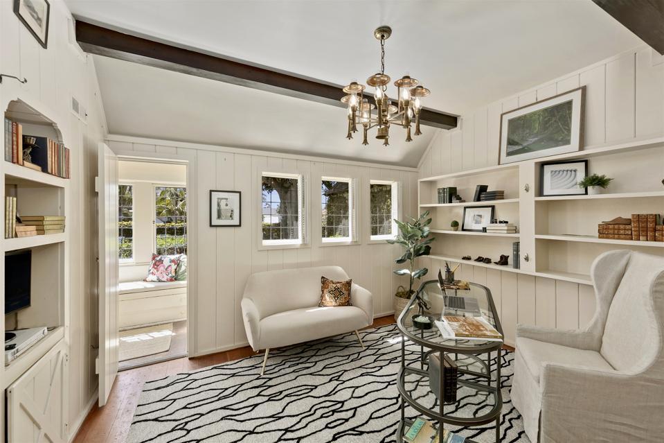 office study inside la jolla landmark house cozy tudor english home