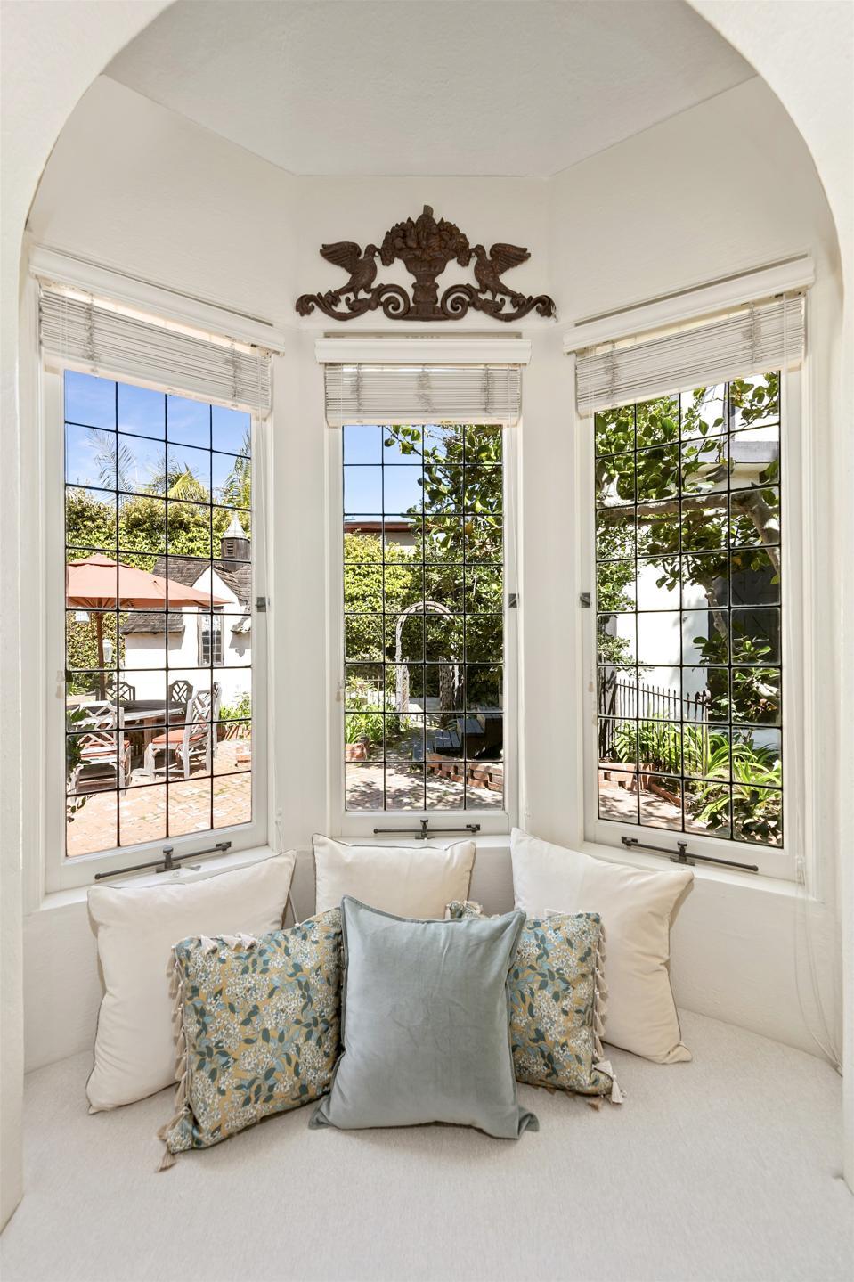 leaded windows historic la jolla home