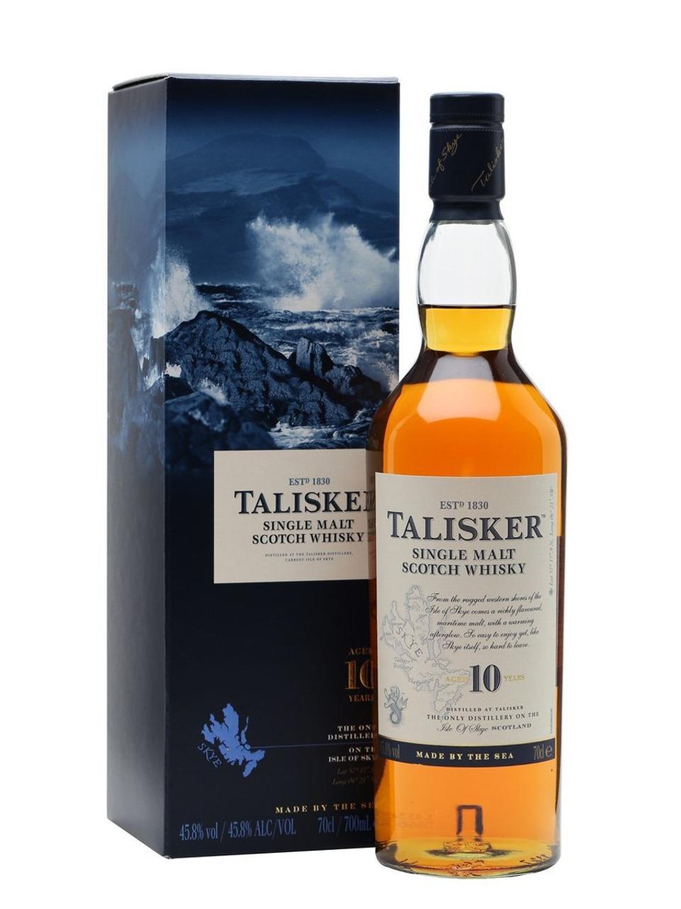 Talisker 10 YO, whisky écossais single malt