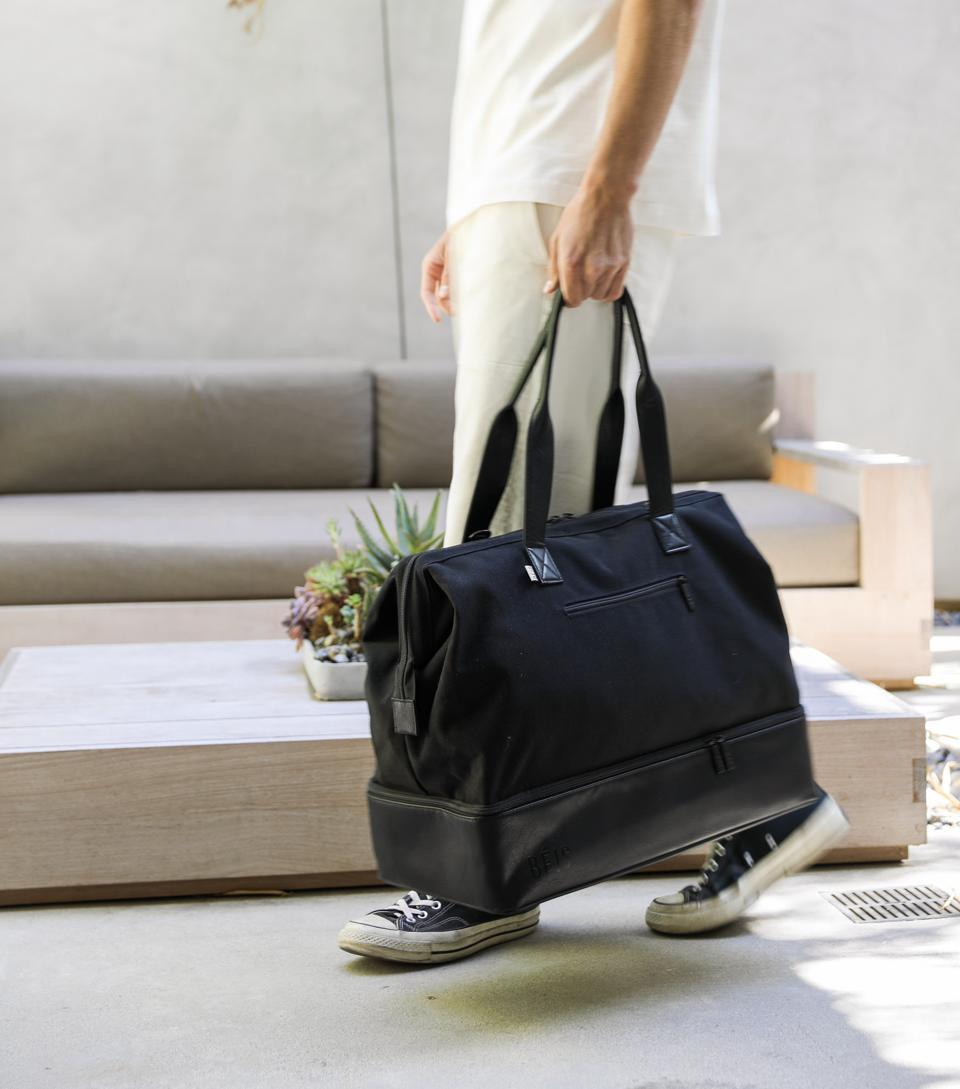 An example of a BEIS bag designed for weekend, close-to-home getaways