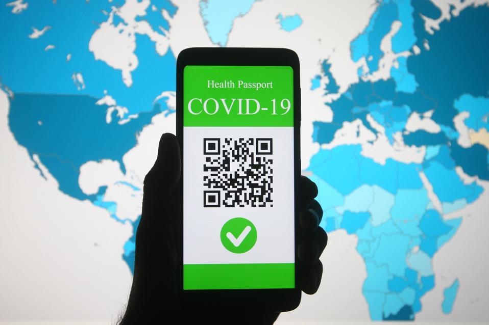 A symbolic COVID-19 vaccine passport.