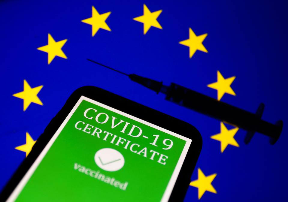 European Union COVID-19 Certificate Photo Illustration