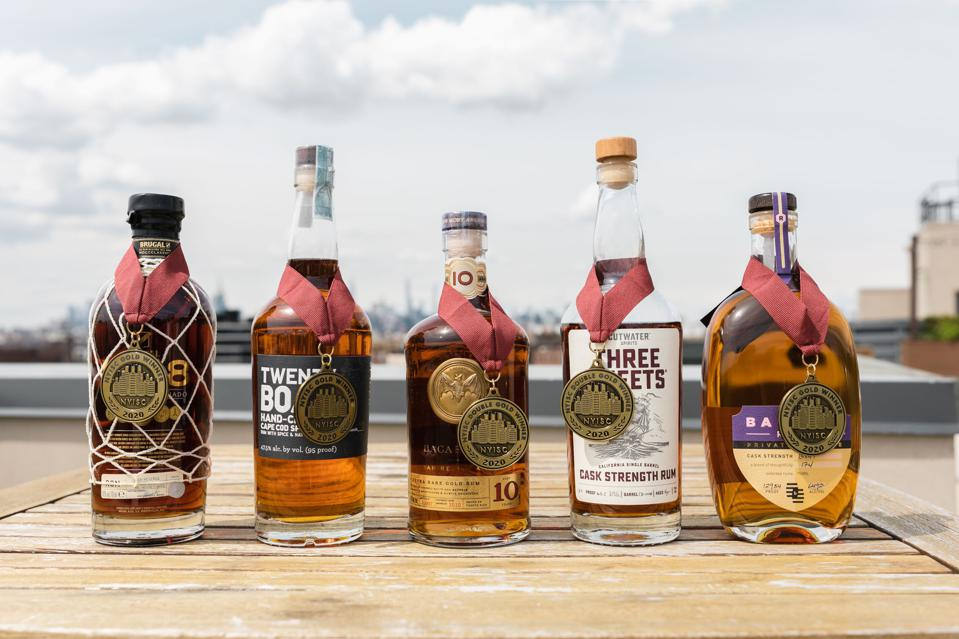 Some of the Double Gold medalists from the 2021 New York International Spirits Competition