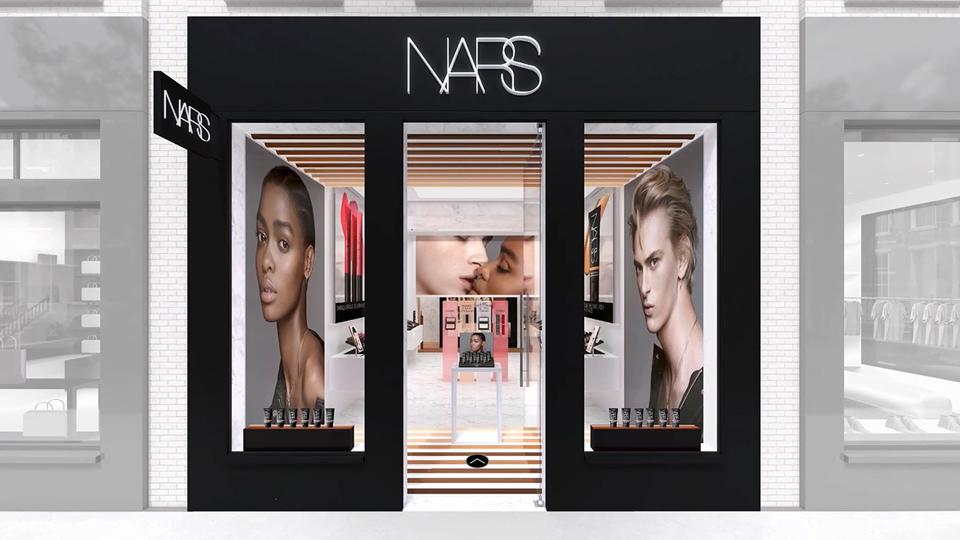 NARS Cosmetics launches a virtual global flagship store brings brick-and-mortar to screen in an immersive experience.