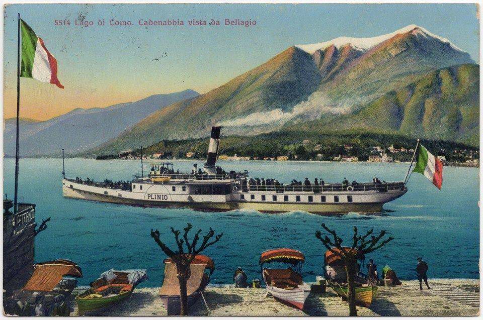 Paddle steamboat Plinio