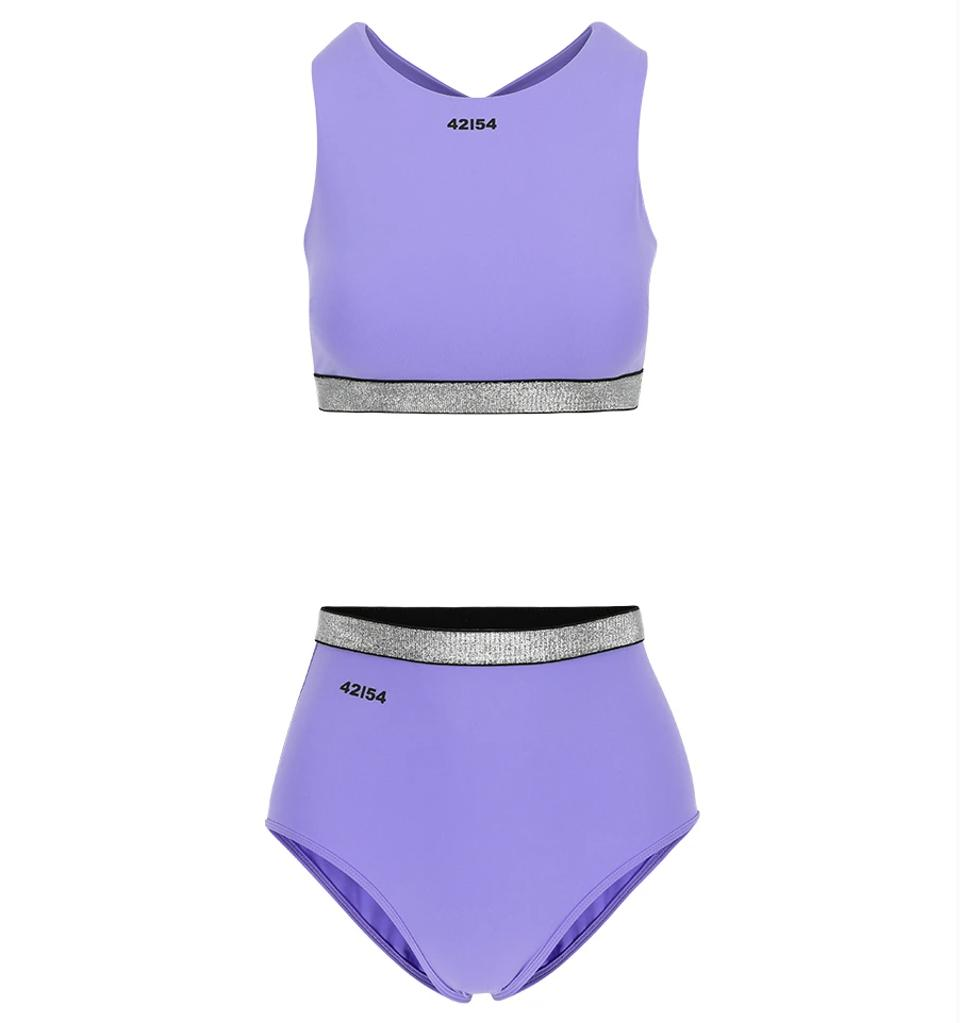 matching lilac working out outfit