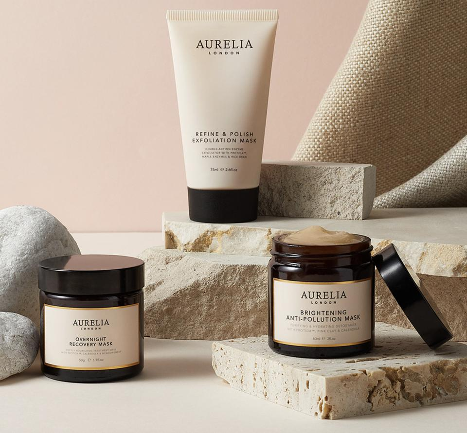 a number of beauty skincare products